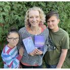 Picture of author mum and her two children