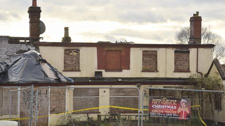The Griffin pub on Yarmouth Road which was damaged by fire. Credit - Sonya Duncan