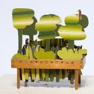 Small Green Jungle automata by Peter Markey