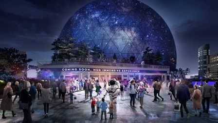 A computer-generated image of the proposed MSG Sphere in Stratford. Picture: MSG