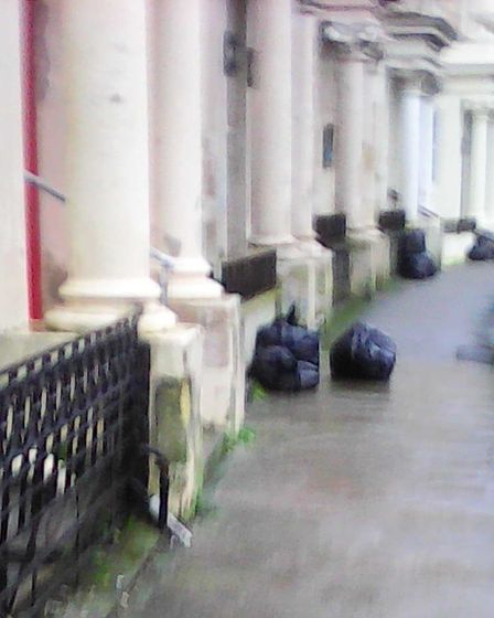Claremont Crescent residents are currently on a weekly waste bag collection, North Somerset Council confirmed.
