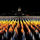 """The """"Field of Flags"""" on Washington DC'sNational Mall for the presidential inauguration ceremony"""