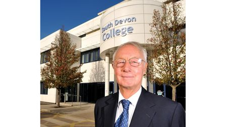 Picture of Alan Hart outside South Devon College