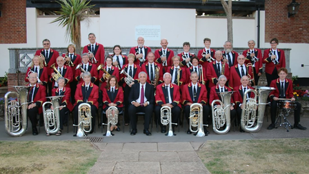 The Ottery St Mary Silver Band at a concert in Connaught Gardens before the pandemic