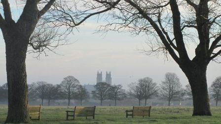 View of Beverley Minster from The Westwood by Sheila Button