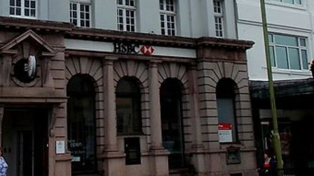 The exterior of the HSBC branch on The Strand, Torquay