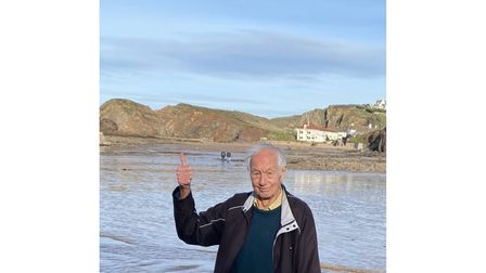 Picture of Alan Hart at Hope Cove