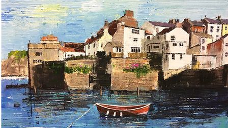 Staithes painting