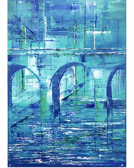 Blue Viaduct painting