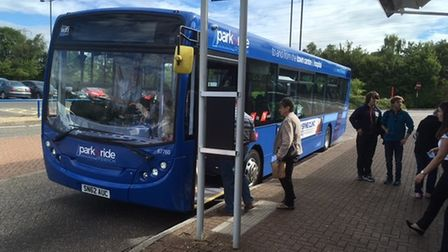 Park and Ride bus in Ipswich.