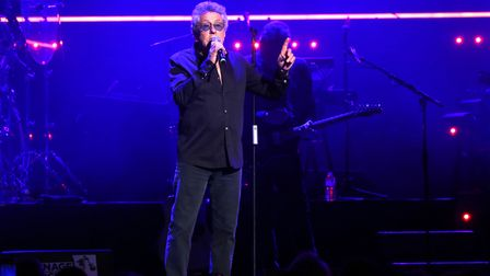 Roger Daltrey on the stage ahead of Take That performance at the Teenage Cancer Trust Concert, Royal