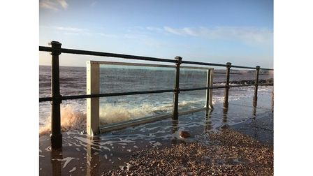 The test glass panel in Sidmouth. Ciara. Picture: East Devon District Council