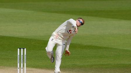 England's Dom Bess during day five of the Test Series at the Ageas Bowl, Southampton.