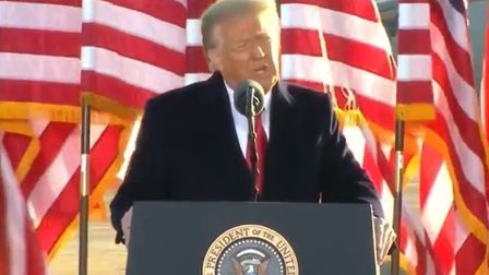 Outgoing US president Donald Trump