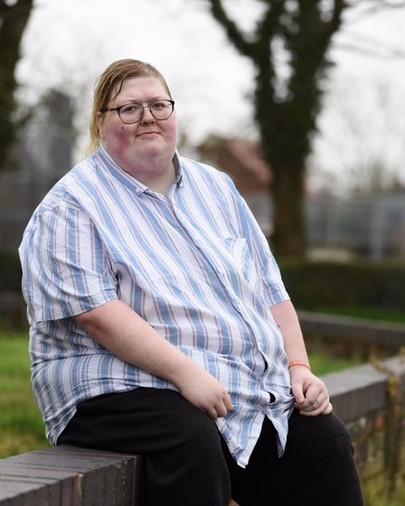 Kelly-Marie Pearce, 27, of Lowestoft, who has had reflex sympathetic dystrophy for the last 14 years