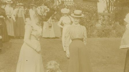 A garden party at Goldings in the early 1900s.