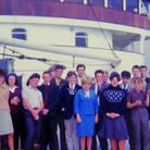 Combined schools trip to Russia in August 1963.A group picturetaken on board the Soviet cruise shi