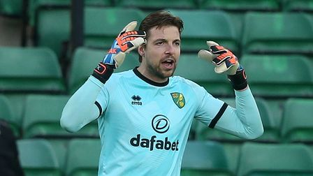 Tim Krul of Norwich during the Sky Bet Championship match at Carrow Road, Norwich Picture by Paul C