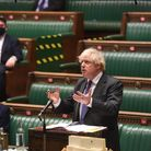 Prime Minister Boris Johnson during Prime Minister's Questions in the House of Commons, London