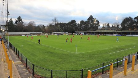 A general view of Clarence Park, home of St Albans City FC