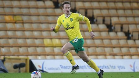 Kieran Dowell of Norwich in action during the Sky Bet Championship match at Carrow Road, Norwich Pi