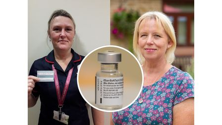 100 staff members at St Elizabeth Hospice have had their first dose of the coronavirus vaccine