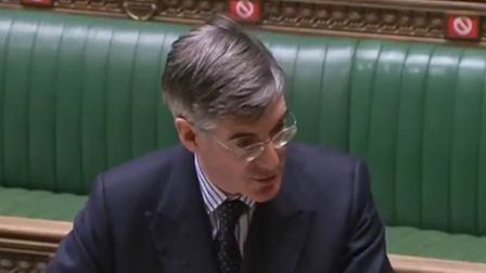Leader of the House of Commons Jacob Rees-Mogg in the Commons