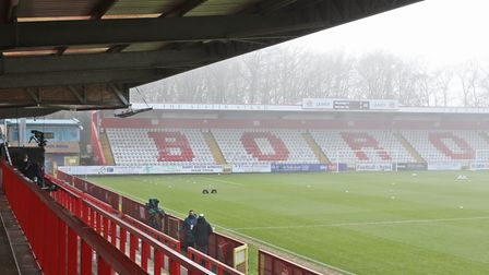 General view of the Lamex Stadium, home of Stevenage FC