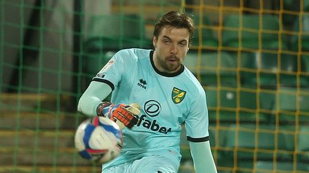 Tim Krul of Norwich in action during the Sky Bet Championship match at Carrow Road, NorwichPicture