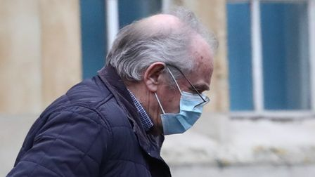 Colin Naylor arrives at Snaresbrook Crown Court in London accused of causing the electrocution of se