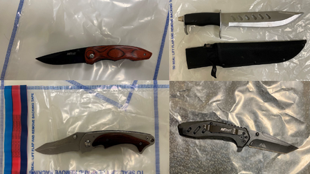 Knives seized by Met officers at London Fields