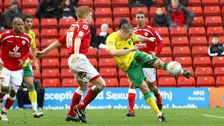 Barnsley - Saturday February 26th, 2011: Andrew Crofts of Norwich scores his sides 2nd goal and cele