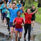 Parkrunners at Woodhouse in Leeds