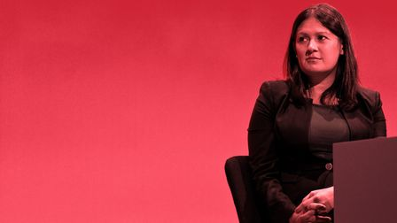 Lisa Nandy speaks to delegates at Labour Party conference. (Photo by Ben Pruchnie/Getty Images)