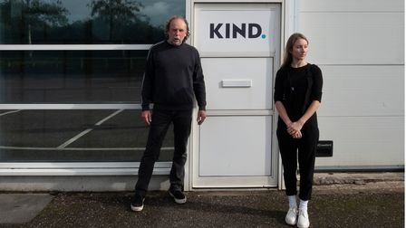 Studio KIND. founders Richard Gregory and Laura Porter at their new venture in Braunton