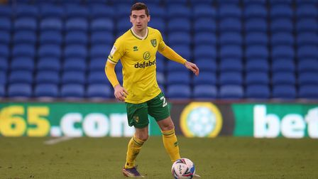 Kenny McLean of Norwich in action during the Sky Bet Championship match at the Cardiff City Stadium,
