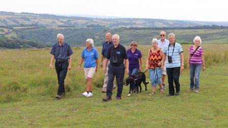 On the Exmoor Ramble with Ivan Huxtable. Picture taken pre-Covid