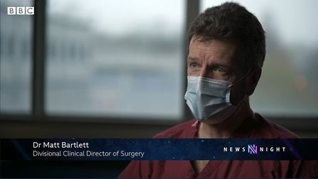 Dr Matt Bartlett on BBC Newsnight.