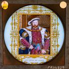 A newly catalogued lantern slide depicting an image of King Henry VIII