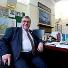 Mark Francois speaking in his office in the Houses of Parliament.