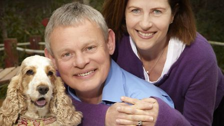Martin and Philippa Clunes with Tina Audrey