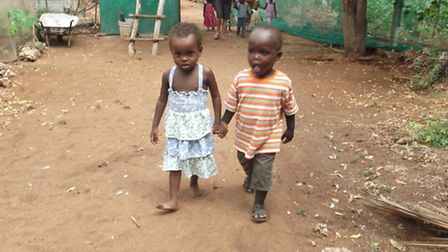 Children are given a safe and loving environment at the Happy Home and are well fed and clothed, l