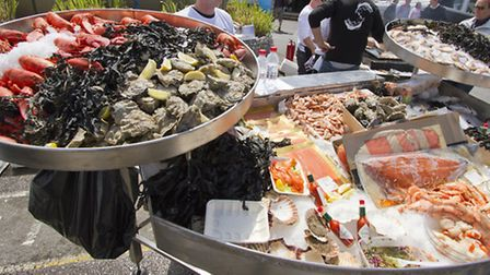 Delicious local seafood at the Sandbanks Boat Show