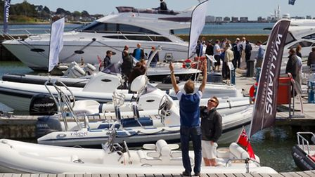 There are a wide range of boats at Sandbanks Boat Show