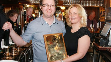Simon and Heidi Crompton, proud owners of The Baum, Rochdale's Top UK Pub