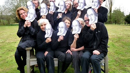 Shakespeare Comes to Lamyatt organisers peep from behind their masks!