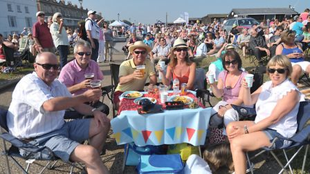 Hundreds of people flocked to Aldeburgh for the 60's by the Sea concert.
