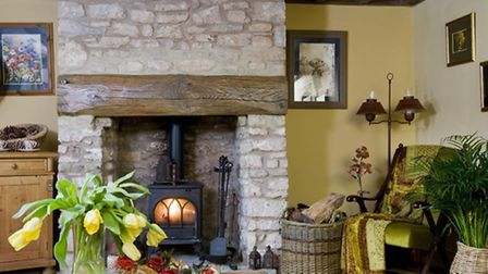 The massive stone fireplace in the lounge was one of several features uncovered during the renovatio