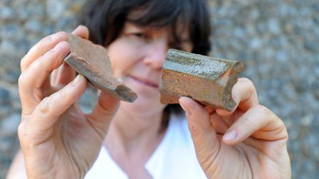 The Hoxne Heritage Group's archaelogical dig takes place throughout the village. Jo Caruth (senior p