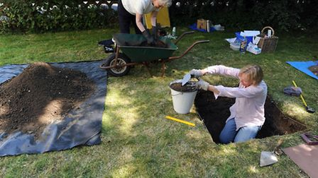 The Hoxne Heritage Group's archaelogical dig takes place throughout the village. Margaret Parkinson